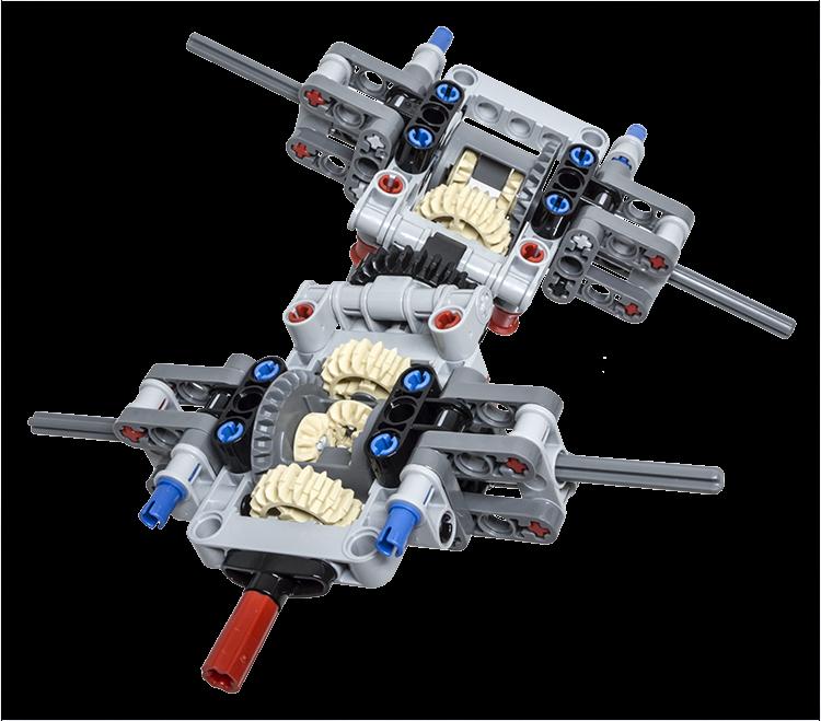 lego technic building tip multiple axle differentials. Black Bedroom Furniture Sets. Home Design Ideas