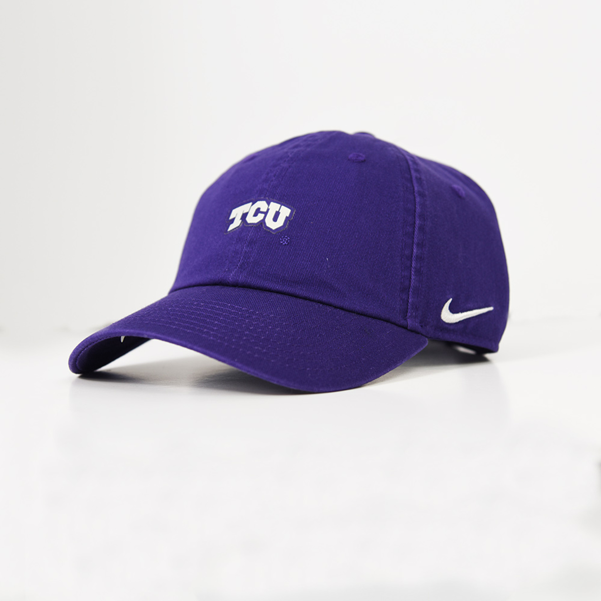 newest bd90f e6f76 ... horned frogs purple white university adjustable hat a4640 9a502   authentic mens tcu nike small logo 6 panel hat tylers 71d8b 2bc27