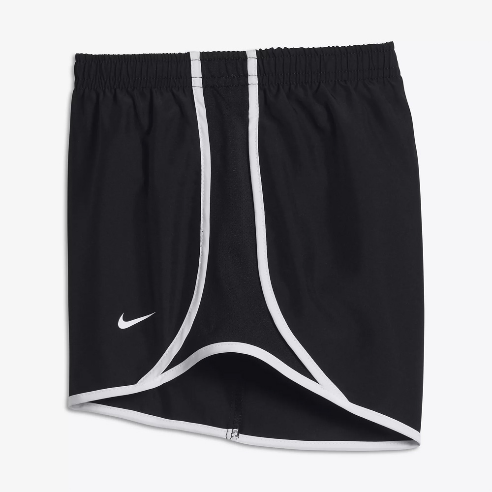 Girls' Black/White Dri-FIT Tempo Shorts
