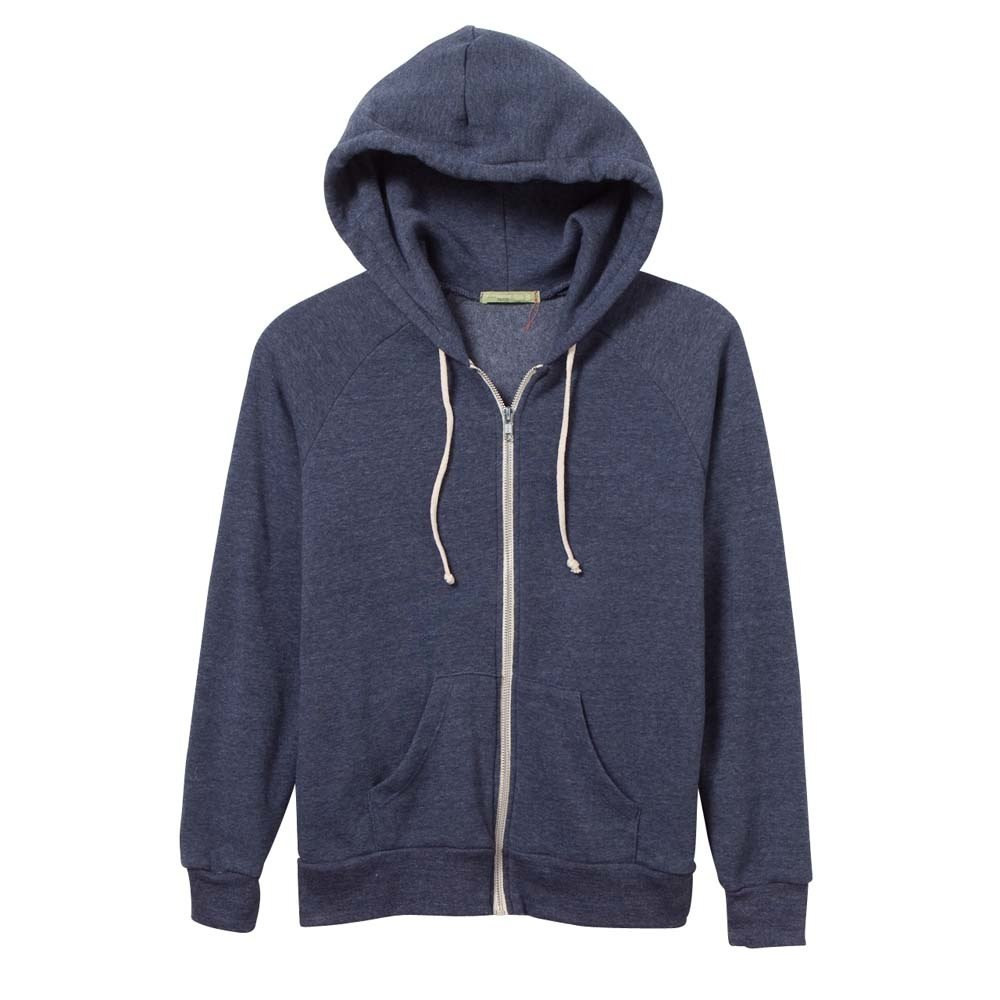 Women's Navy Adrian Eco-Fleece Zip Hoodie