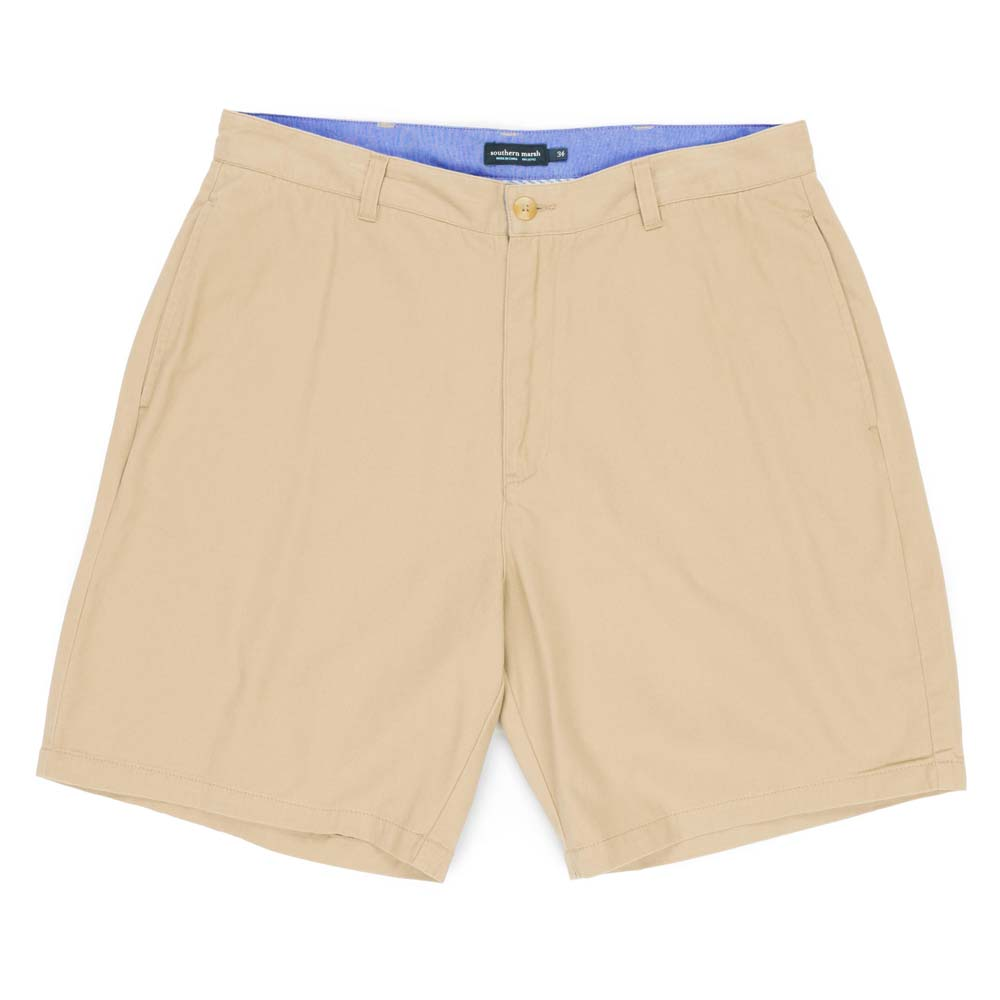 "Men's Khaki Regatta 8"" Flat Front Shorts"