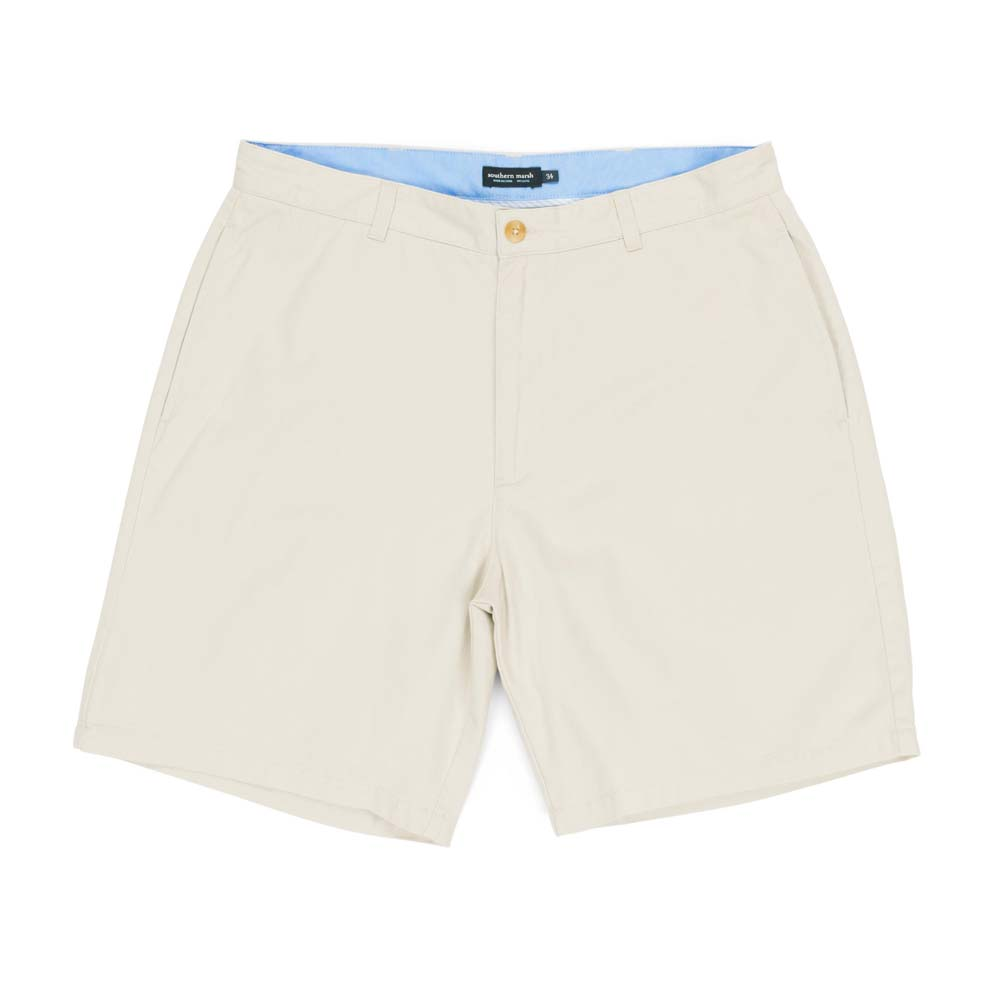"Men's Auduban Tan Regatta 8"" Flat Front Shorts"