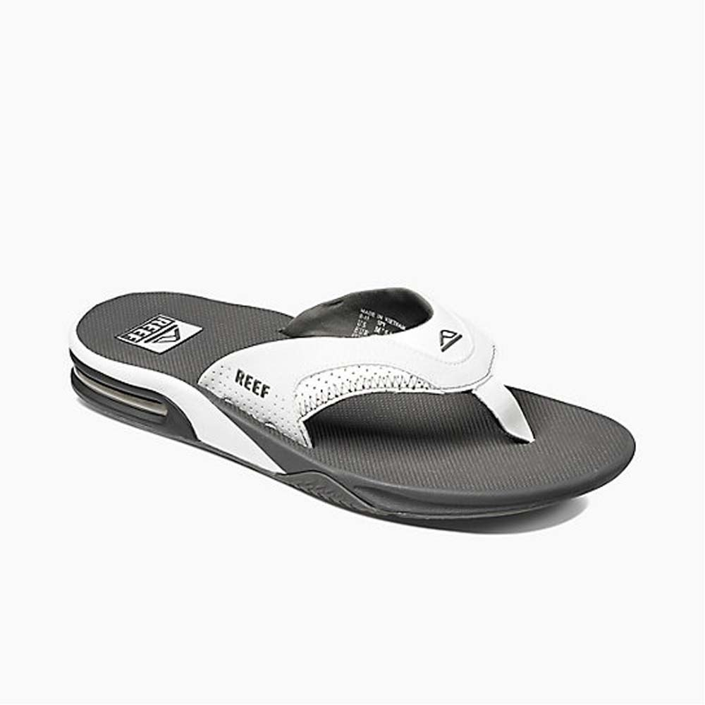 Men's Grey/White Fanning Sandals