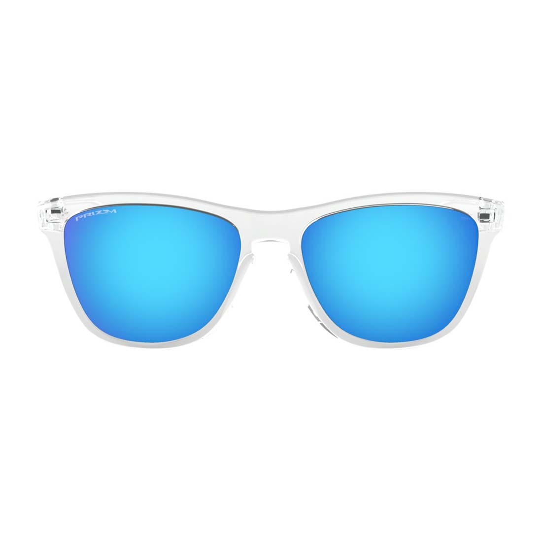 Men's Crystal Clear/ Prizm Sapphire Frogskins Glasses
