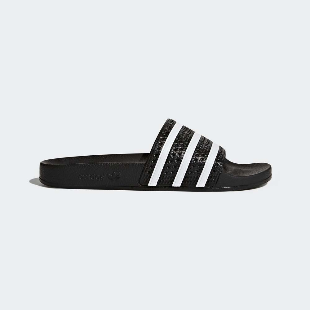 Men's Black/White adidas Adilette Slides