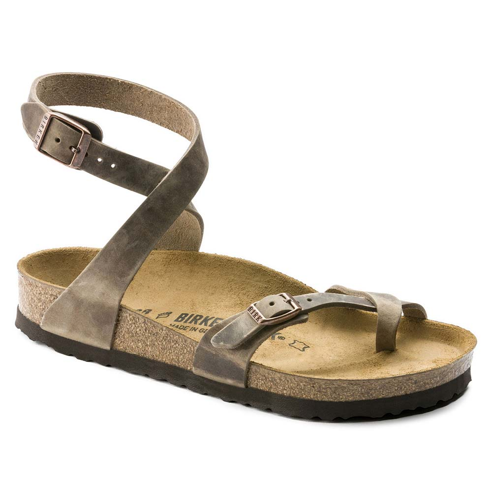 Women's Yara Oiled Leather Tobacco Sandals