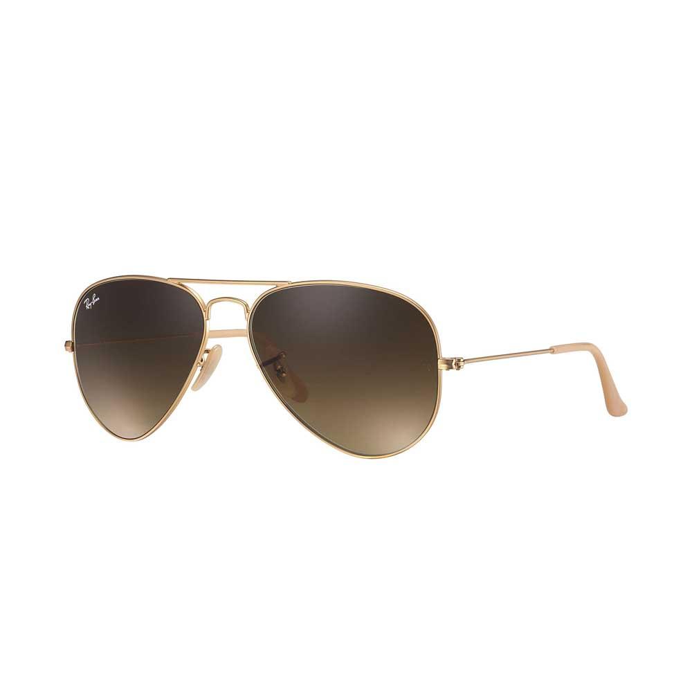 Gold/Brown Aviator Gradient Sunglasses