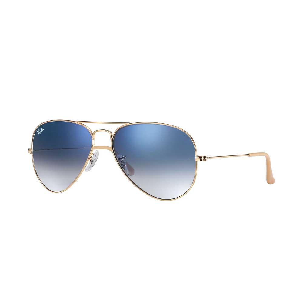 Gold/Light Blue Aviator Gradient Sunglasses