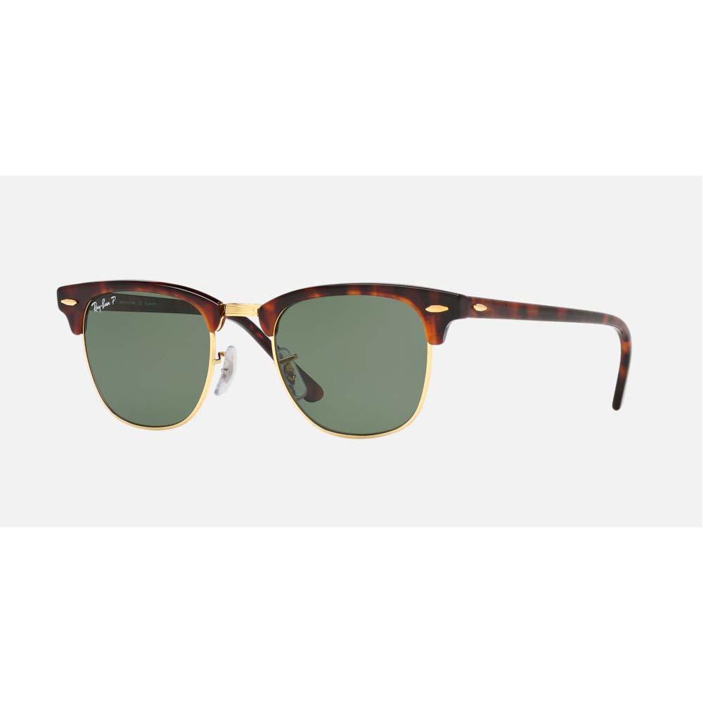 Clubmaster Classic Sunglasses - Tortoise/Green Lens