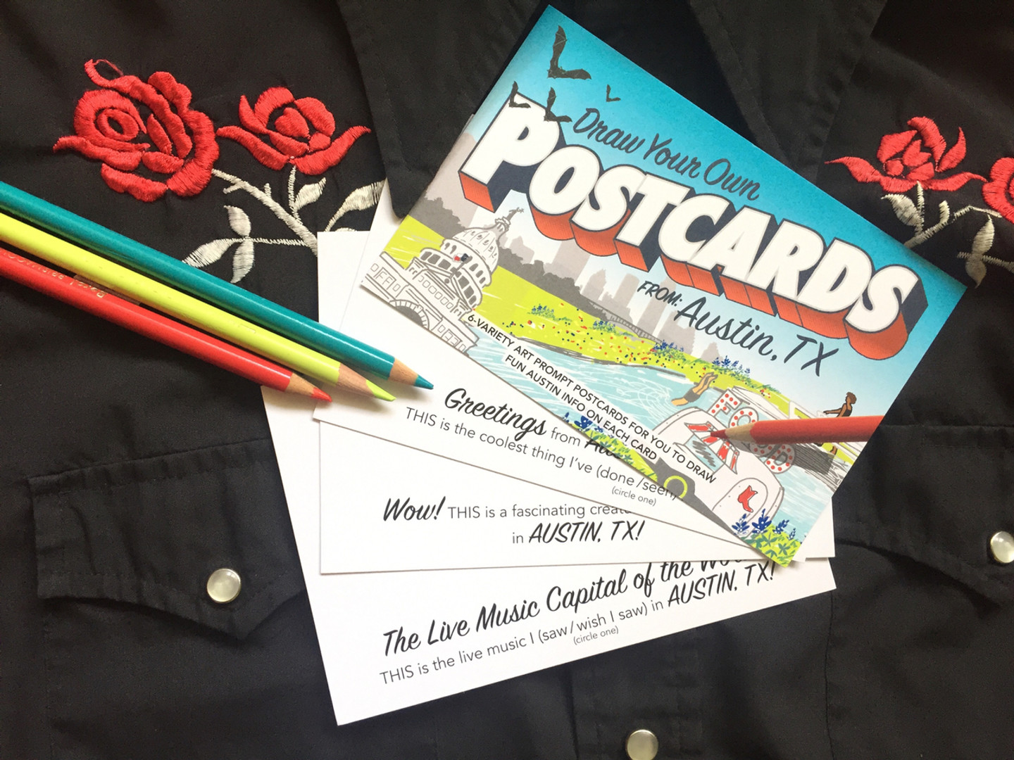 Austin POSTcards | Draw Your Own (6-Variety)