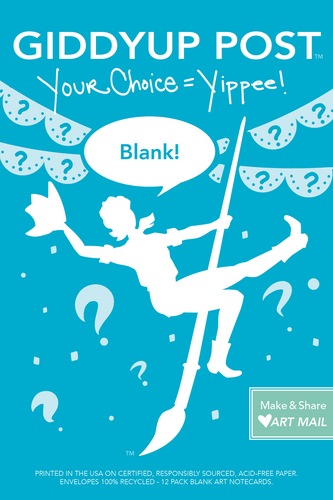 Blank! (12-Greeting Cards): Your Choice = Yippee!