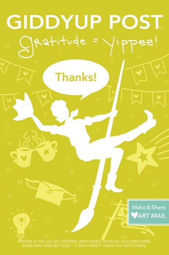 Thanks!  (12-Variety Thank You Cards): Gratitude = Yippee!