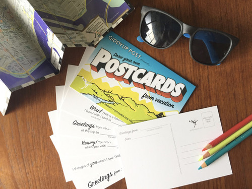 Draw Your Own (6- Variety POSTCARDS): From Vacation