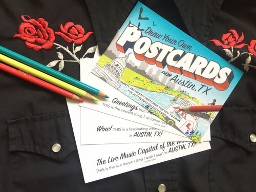 Draw Your Own (6- Variety POSTCARDS): From AUSTIN