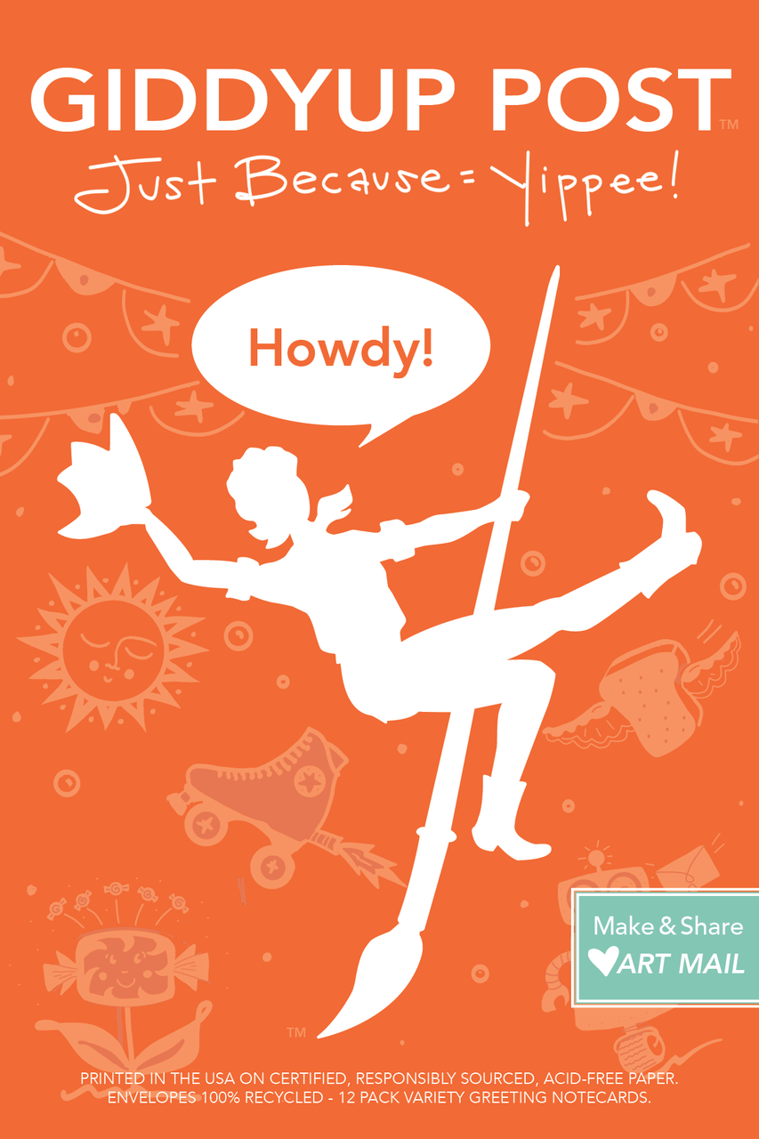 Howdy 12 Variety Greeting Cards Just Because Yippee Giddyup Post