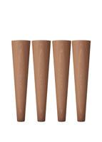 "[Overstock] McCobb Mid-Century Modern Feet 8"", Mahogany, Set of 4"