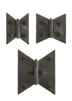 Wrought Iron Butterfly Cabinet Hinges (Sold As Pair)