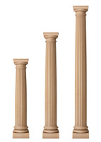 "Fluted Architectural Doric Columns 7 1/2"" Diameter"