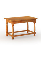"Farmhouse Kitchen Table with Box Stretcher, 36"" Leg"