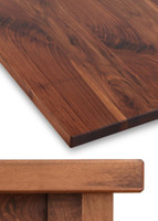 Thick Solid Hardwood Table Top, Walnut 1.75""