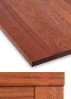 Thick Solid Hardwood Table Top, Mahogany 1.75""