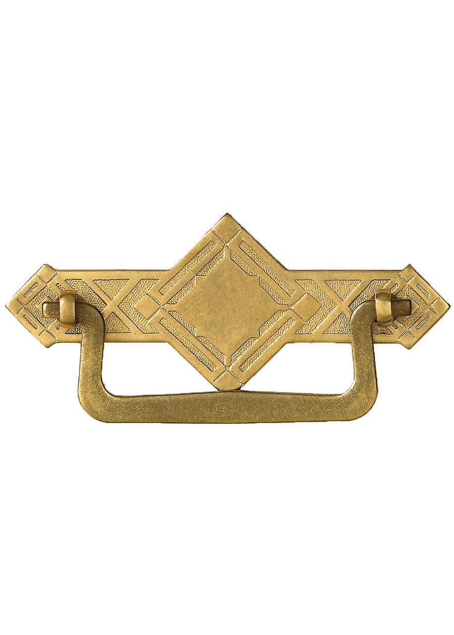 Brass Diamond Cabinet Bail Pull - TableLegs.com