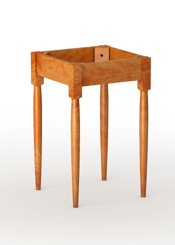 """shaker end table base, 25"""" leg - tablelegs"""