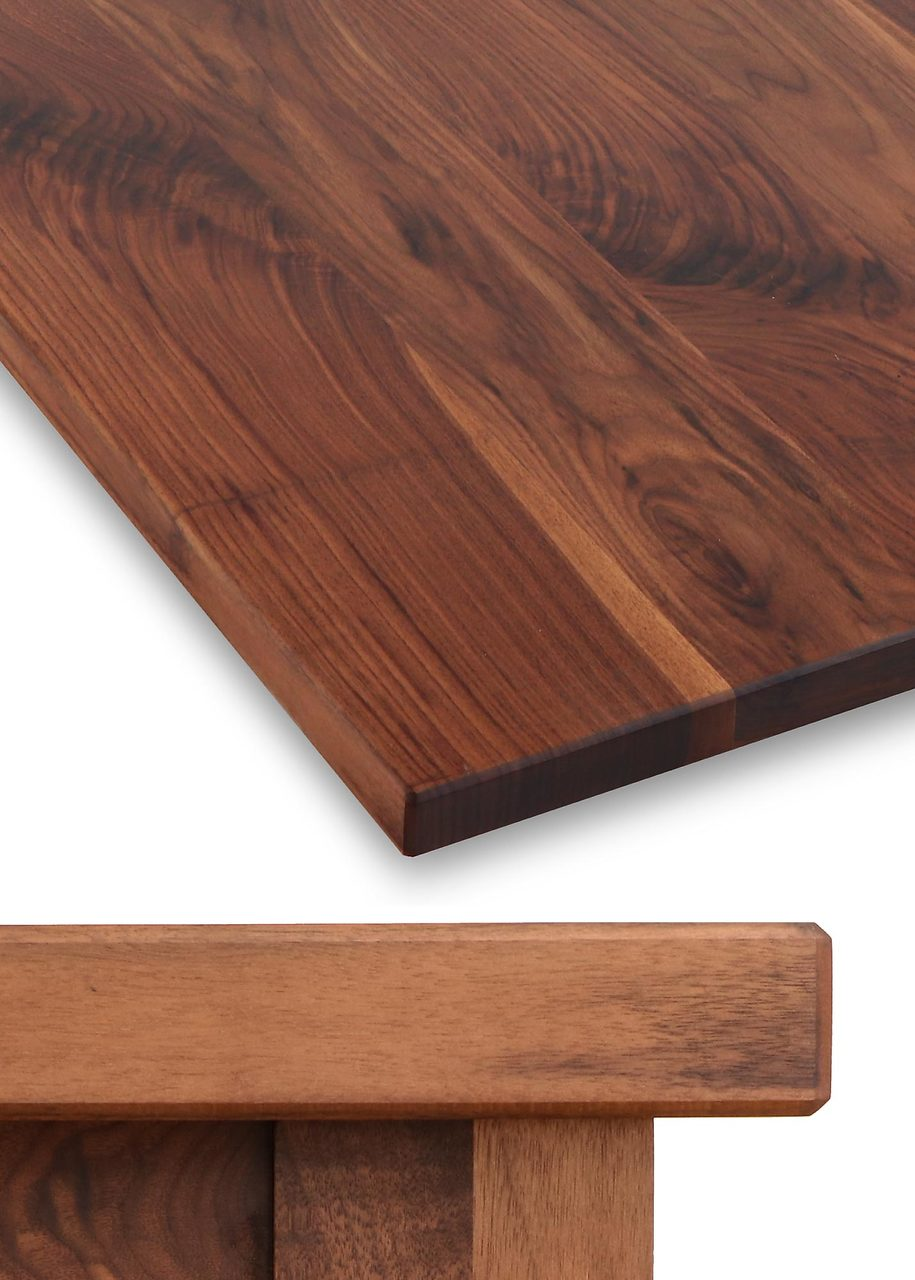 Thick Solid Hardwood Table Top Walnut TableLegscom - Thick wood table top