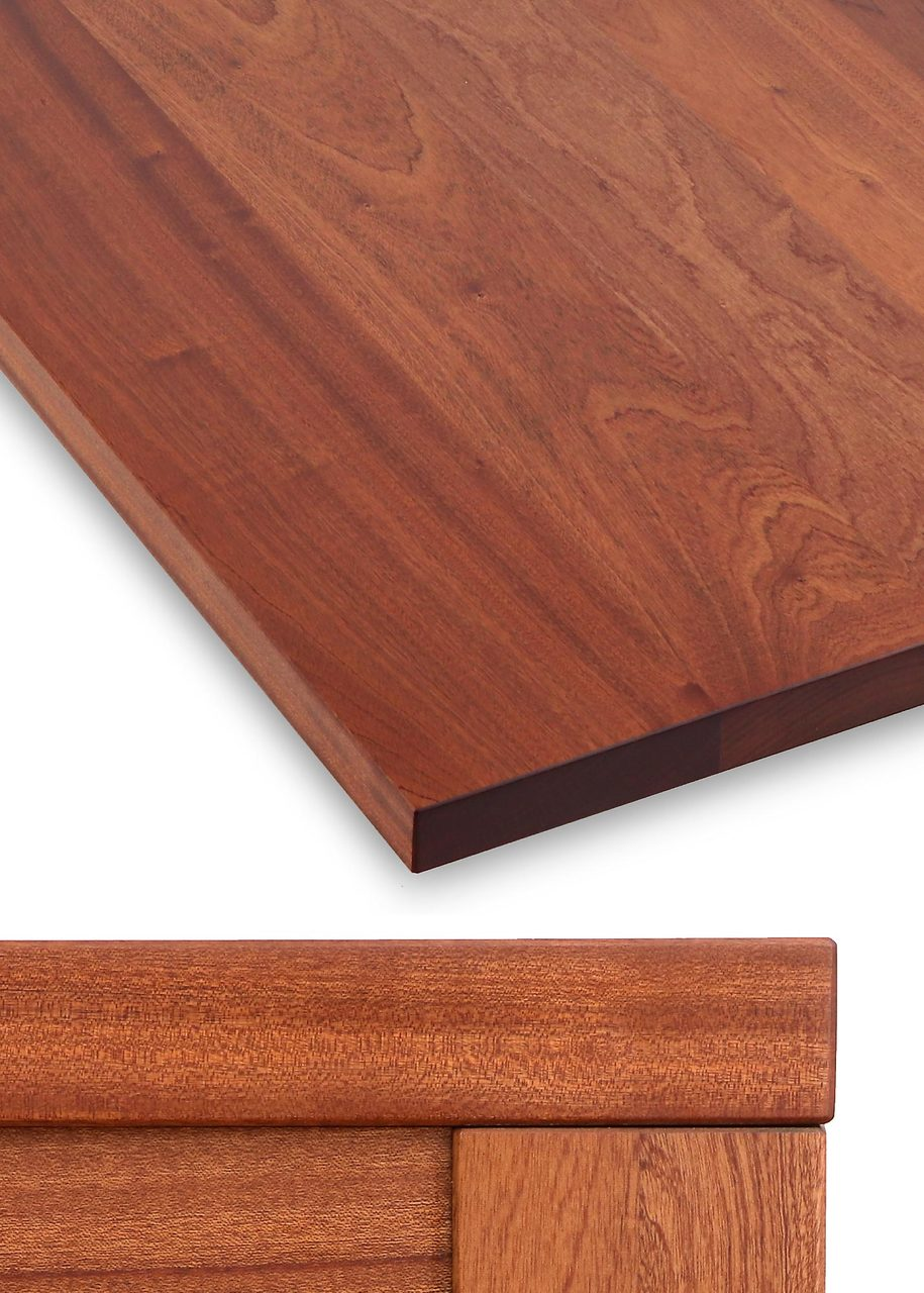 Thick Solid Hardwood Table Top, Mahogany 1.75