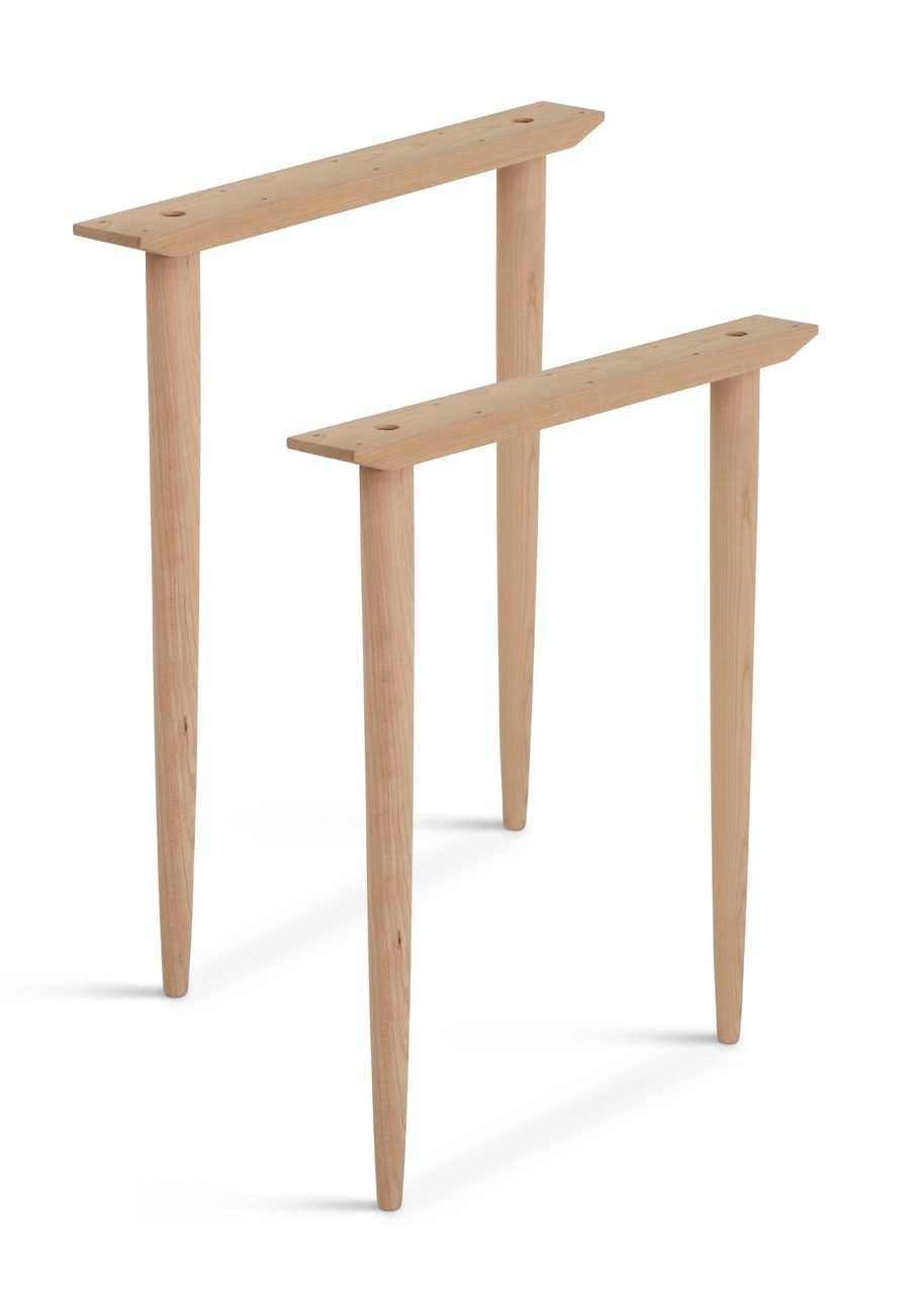 Wegner mid century modern table base set cherry watchthetrailerfo