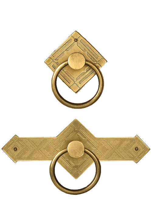 Brass Diamond Cabinet Ring Pulls Tablelegs Com
