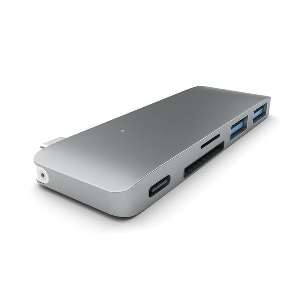 Satechi Type-C USB Pass Through Hub - Space Grey (ST-TCUPM)
