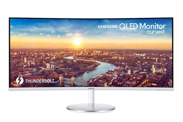 """Samsung 34"""" Thunderbolt 3 Curved Monitor with 21:9 Wide Screen CJ79 Series C34J79"""