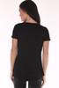 Black short sleeve tee shirt.
