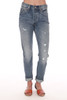 501 Distressed Faded Blue Jeans