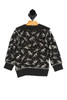 back shows black dinosaur skeleton hoodie featuring an all over white dino skeleton print with hoodie, super soft & thicker sweatshirt material.