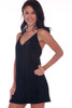 Skinny Strap Velvet Mini Dress