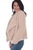 side shows campaign colored fuzzy coat featuring a soft faux fur-like material on the inside with a super soft lining on the inside, draped front collar and two side pockets!