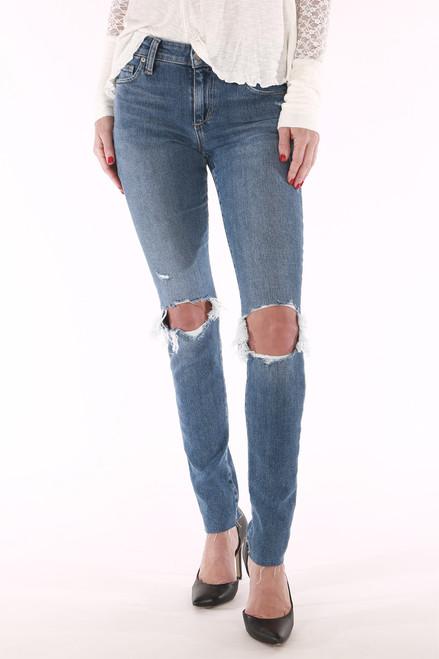 skinny, light blue, holie, mid rise, joe's  front pockets