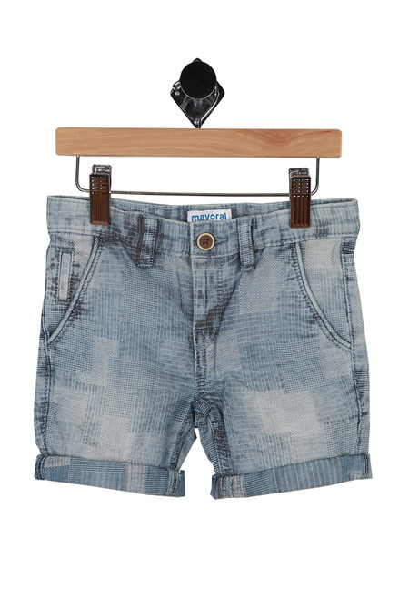 Denim Jacquard Shorts (Toddler/Little Kid)