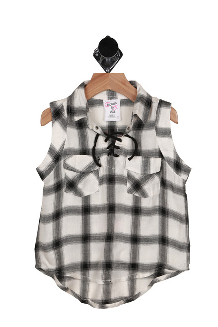 Plaid Lace Up Tank (Little Kid)