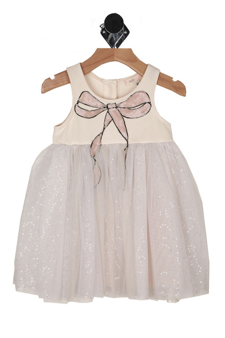 Bow & Sequin Tulle Dress (Toddler)