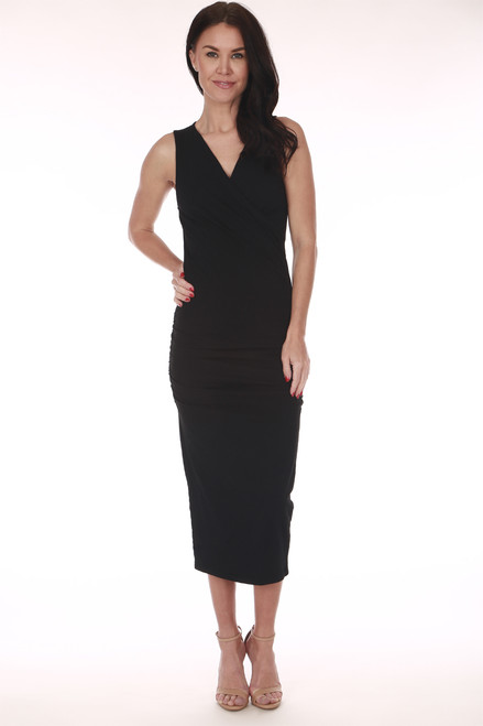 Sleeveless Surplice Tank Dress