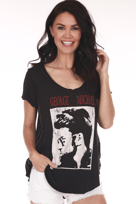 S/S George Michael V-Neck Tee