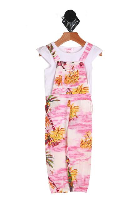 Palm Trees Jumpsuit 2 Piece Set (Toddler/Little Kid)