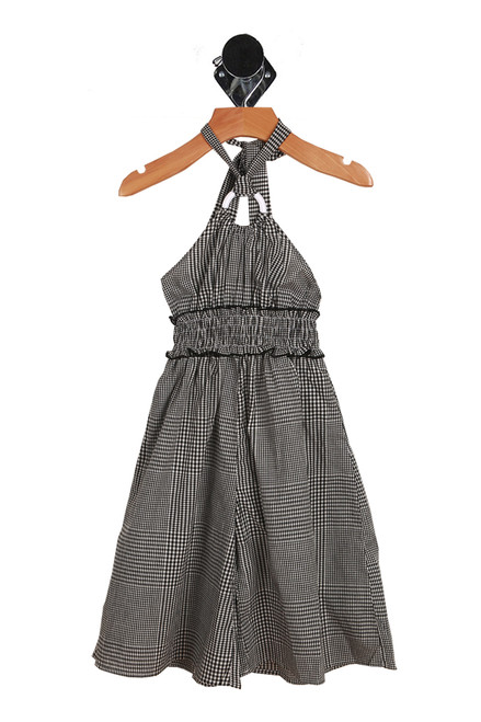 Gingham Halter Jumpsuit (Toddler/Little Kid)
