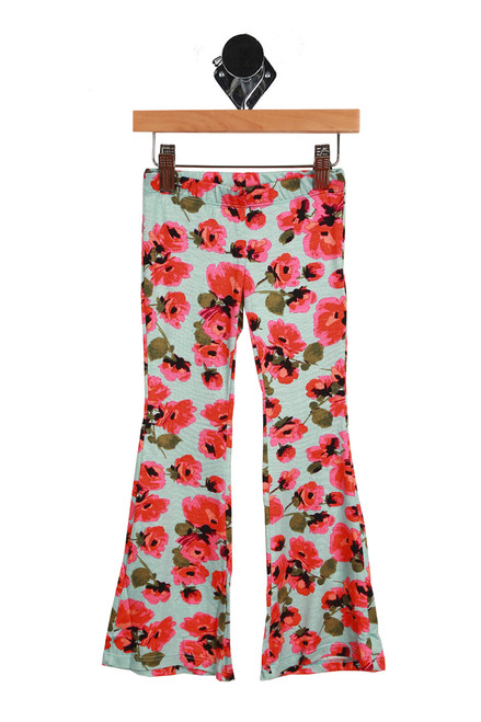 Floral Flare Pants (Little/Big Kid)