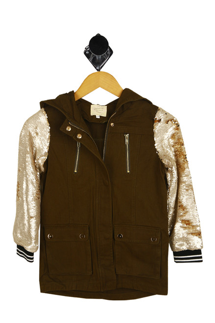 Military Jacket W/ Sequin Sleeves (Big Kid)