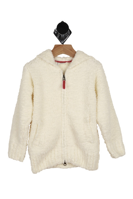 Marshmallow Knit Zip Up Hoodie (Little Kid)