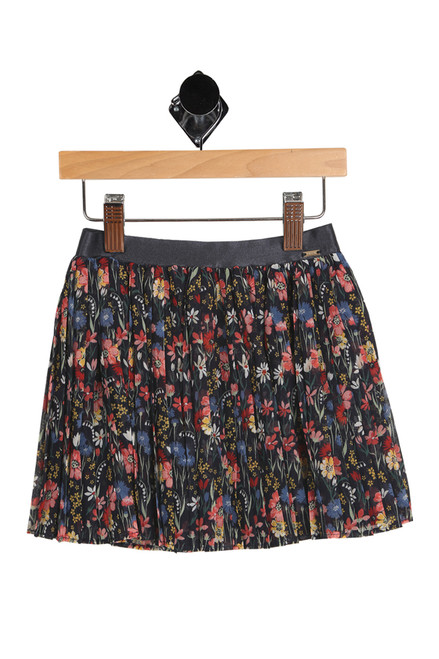 Pleated Floral Skirt (Little/Big Kid)